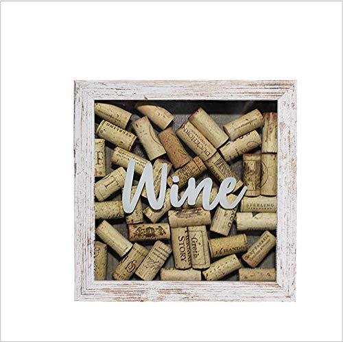 Marco de fotos tridimensional de madera de 8 pulgadas hecho de viejo sello de marco de corcho de vino tinto de acuerdo con el marco de exhibición de almacenamiento de tapa de botella de cervez