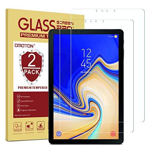 OMOTON [2 Stück] Panzerglas Schutzfolie für Samsung Galaxy Tab S4 T830/T835, 10.5 Zoll, 9H Härte, Anti-Kratzen, Anti-Öl, Anti-Bläschen