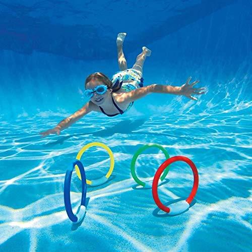 Turtle Story Buceo Elegantstunning 4pcs / Lot niños Submarino Buceo Anillo Piscina de Agua de Juguete de Playa del Verano Ayuda de la natación for los niños JXNB