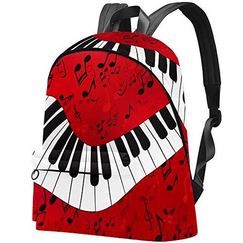 Abstraktes Klavier mit Partituren Bag Teens Student Bookbag Leichte Umhängetaschen Reiserucksack Tägliche Rucksäcke