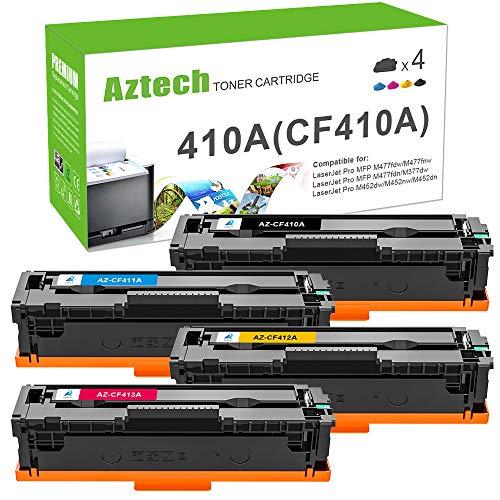 Aztech Kompatibel 410A Toner Cartridge Replacement für HP 410A CF410A CF411A CF412A CF413A CF410X für M477fdw Toner HP Color Laserjet Pro MFP M477fdw M477fdn M477fnw M452dn M452nw m452dw M377dw