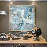JXGG Pintura al óleo Abstracta Pintura Decorativa Moderna Minimalista Pasillo de Entrada Mural Mural lámpara de Sala Louvre 30x30cm