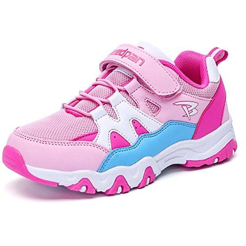 Qianliuk Unisex-Kinder Sneaker Laufschuhuhe Klettverschluss Atmungsaktiv Abriebfest Anti-Rutsch...