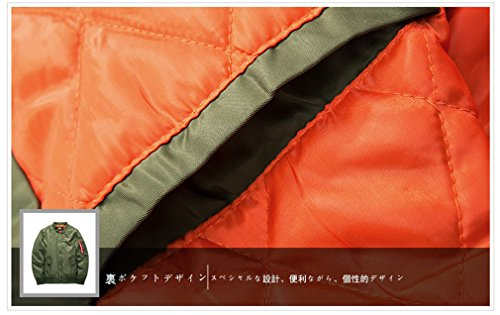 KM(コメイ)MA-1エムエワンジャケットミリタリフライトジャケット中綿メンズジャケットグリンM