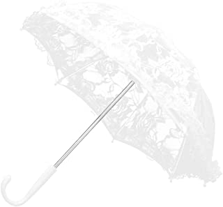 Flower Texture Wedding Lace Umbrella Party Bridal Waterproof Sun Rain Umbrella