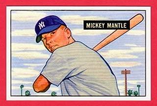 Mickey Mantle 1951 Bowman Baseball Rookie Reprint Card (Yankees)