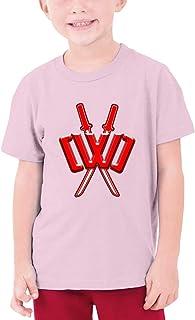 Ninja_Cwc Spy Print Child Shirt 3D Round Neck Fashion Girl Shirts Cotton Crew Neck Shirt Pink M