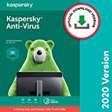 Kaspersky Anti-Virus Security 2020 Latest Version - 1 PC, 1 Year (Code emailed in 2 Hours - No CD)