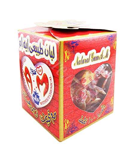 Natural Honey Mastic Chewing Turkish Gum Sugar Free Box 100 & 200 Pieces لبان (1 Box / 100 pcs)