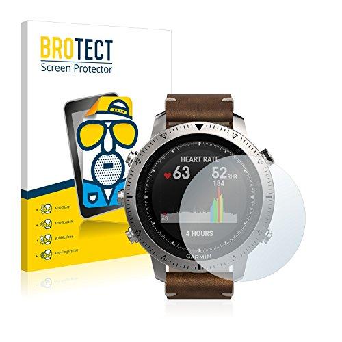 BROTECT 2X Entspiegelungs-Schutzfolie kompatibel mit Garmin Fenix Chronos Bildschirmschutz-Folie Matt, Anti-Reflex, Anti-Fingerprint