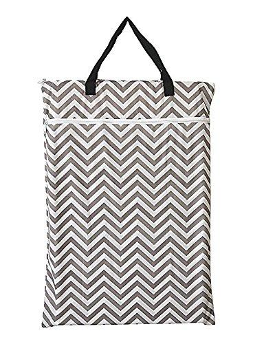 Große Tasche für nasse und trockene Gegenstände, zum Aufhängen, für wiederverwendbare Windeln oder Wäsche.