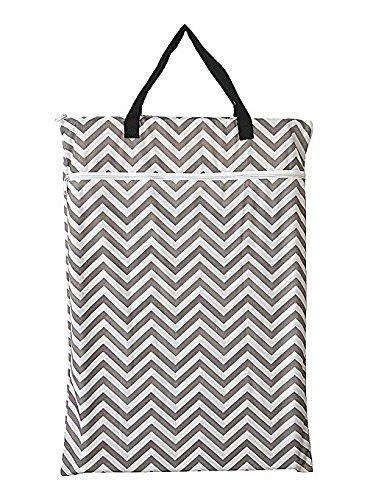 Large Hanging Wet/Dry Cloth Diaper Pail Bag for Reusable Diapers or Laundry...