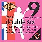 Rotosound R30SL - Juego de cuerdas para guitarra eléctrica de níquel, 10-10/14-8/24-11/32-17/40-22