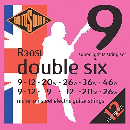 Rotosound Nickelsaiten für 12-saitige E-Gitarren Extra Light 8-8/10-10/14-8/24-11/32-17/40-22