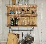 Estante de cocina de madera maciza - Color: Flameado - Dimensiones (Al x An x...