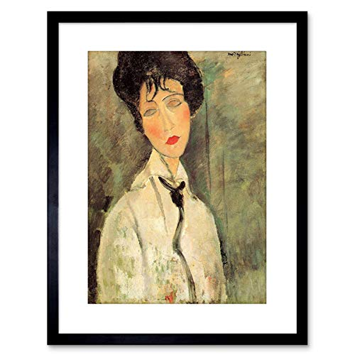 The Art Stop Painting Amedeo Modigliani Woman with Black TIE Framed Print F97X2683