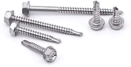 Pack of 50 Small Parts 1010KWN 5//8 Length #3 Drill Point Hex Drive 5//8 Length Pack of 50 Steel Self-Drilling Screw Sealing Hex Washer Head With EPDM Washer Zinc Plated Finish #10-16 Thread Size
