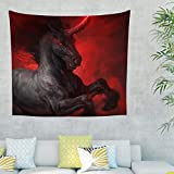 CATNEZA Unicorn, Wings, Light, Horns Tapestry Tapestry Wings Comforter, calidad Hippie para decoración de habitaciones, poliéster, blanco, 230x150cm