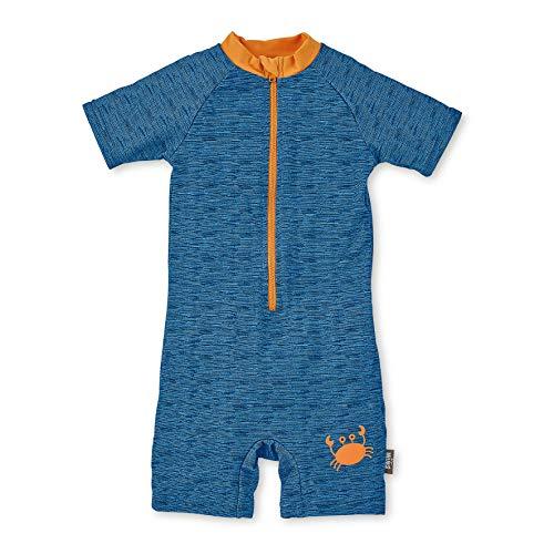 Sterntaler Jungen Schwimmanzug mit Windeleinsatz, Kurzarm-Badeshirt und Bade-Shorts, UV-Schutz 50+, Alter: 2 - 3 Jahre, Größe: 86/92, Farbe: Blau