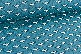 Popeline Baumwollstoff japanisches Muster Kraniche