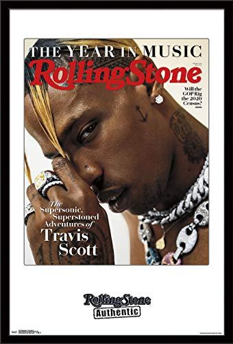 Trends International Rolling Stone Magazine - Travis Scott 19 Wall Poster, 22.375' x 34', Black Framed Version