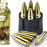 Juego de piedras para whisky, juego de regalo de cubitos de hielo de acero inoxidable, cubitos de hielo reutilizables