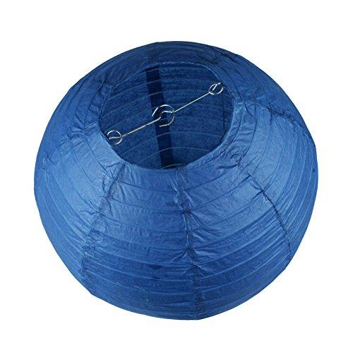 Vlovelife Lot de 10 lanternes en papier rondes blanches de 20,3 cm pour décoration de mariage, fête d'anniversaire, décoration de Noël, Papier, bleu marine, 30cm (12'')