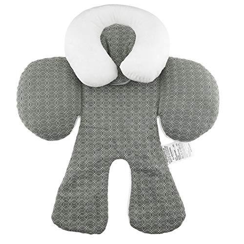 #N/V Cojín cómodo de doble cara de uso para cochecito de bebé, cojín de algodón transpirable, para asiento de coche, cojín para cochecito