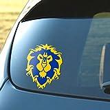 Signage Cafe Alliance - World of Warcraft Vinyl Decal, Gold & Royal Blue - 4' x 5'
