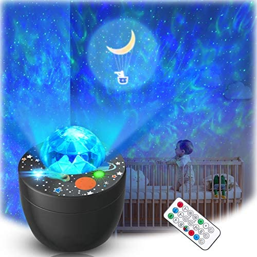 Lupantte Galaxy Star Projector Baby Night Light Projector Skylight with Music Speaker for Bedroom product image