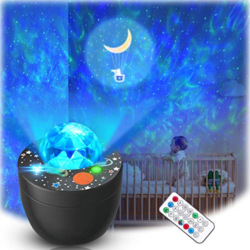 Lupantte Galaxy Star Projector, Night Light Projector for Bedroom/Party/Home Decor with Music & Remote Control, 360 Degree Rotating Starrry Lamp for Bay Kids Girl Gifts
