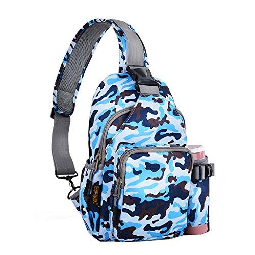 JU FU Casual Chest Bag Messenger Bag Hommes et Femmes Sport Épaule Sac Mode Voyage Étanche Multifonctionnel Poche Ordinateur Sac À Dos Camouflage 3 Couleurs en Option | (Couleur : # 3)
