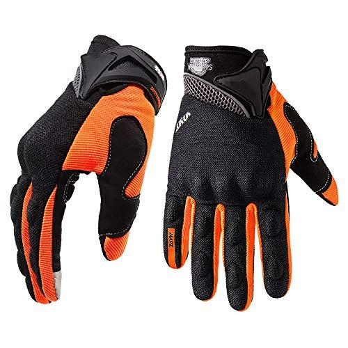 Lixibei Herren-Schirm Touch Gummi Knuckle Wache volle Finger-Handschuhe für Motorrad Radfahren Klettern Camping Jagd Wandern Arbeit,Gelb,XL