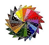 12 Paisley-Stirnbänder, 12 Farben, 100 % Baumwolle