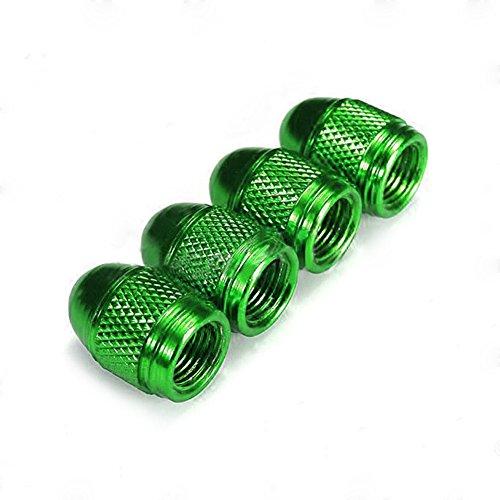 Delleu - Juego de 4 Tapas para Válvula de Aleación anodizada de Alta Calidad para Bicicletas, Verde