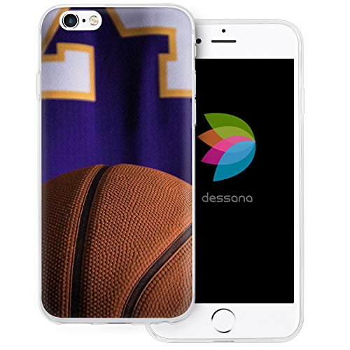 dessana Basketball transparente Schutzhülle Handy Case Cover Tasche für Apple iPhone 6/6S Basketball Spieler