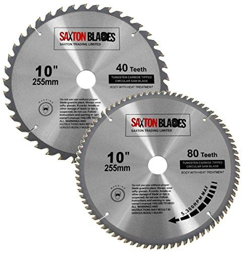 Saxton TCT - Cuchillas circulares para sierra de ingletar