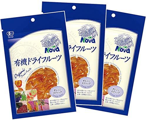 NOVA 有機オレンジピールスティック 80g 3袋