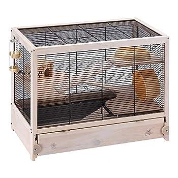 Ferplast HAMSTERVILLE Hamster Habitat Cage Sturdy Wooden Structure Black