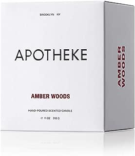 Apotheke, Candle Signature Amber Woods 11 Ounce