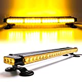 CUMART 26.5' Amber Yellow 54 LED Light Bar Double Side Emergency Warning Flash Strobe Light Traffic Advisor with Magnetic Base (26.5' 54LED, Amber/Yellow)