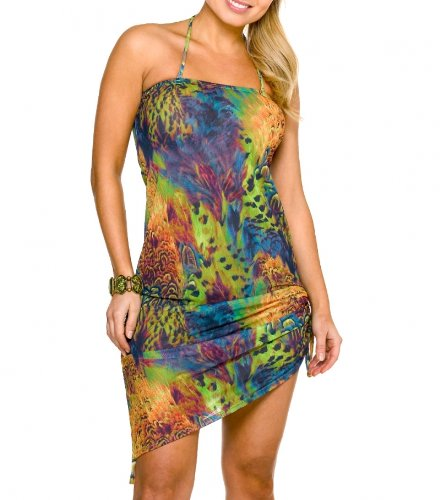 Kiniki Tan Thru Sonnendurchlässiger Amalfi Beach Kleid (38)