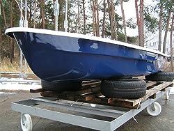 ANKA® Ruderboot 4,20m x 1,40m Dunkelblau/Grau