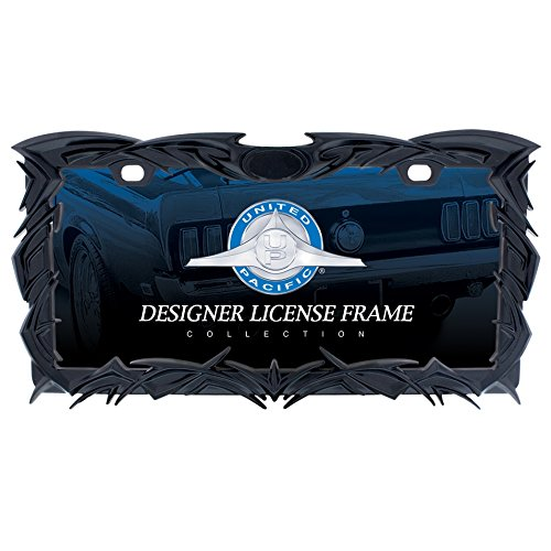 United Pacific Industries 50114 Black Tribal Flame License Plate Frame
