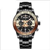 Angelay-Tian Reloj mecánico for Hombre, Impermeable, automático, multifunción, Correa mecánica, Espejo de Zafiro, Reloj...