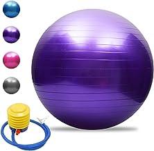 TOMSHOO Anti-burst yogabal, verdikte stabiliteit, balansbal, pilates, barre, fysieke fitness, gymnastiekbal, 45 cm, 55 cm,...