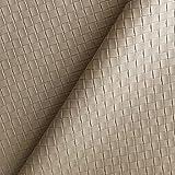 Classic Pvc Tejido Twill Accesorios De Cuero Artificial De Fondo Hecho A Mano Materiales De Decoración Interior De Pared, Ancho 138cm / 54in, Por El Medidor(Color:Gris beige)