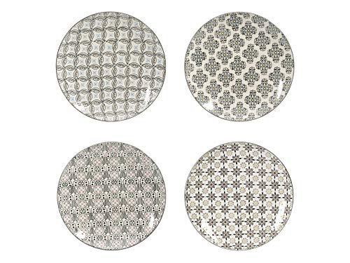 Table Passion - Coffret de 4 assiettes plates Santiago 26 cm