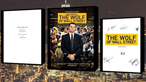 El lobo de Wall Street Guion/Guión Con Cartel De Película Y Impresión Autógrafo…