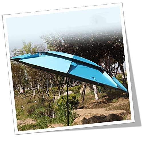 YCMY Sombrilla De Playa Grande Antiviento Azul Rotación De 360 ° Proteccion Solar Protección UV Paraguas Al Aire Libre Sombrilla con Bolsa De Transporte para Pesca Picnic Camping Protección.